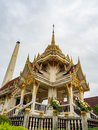 Crematory architecture style Thai with details texture is beautiful golden in temple name is Wat kaew at Bangkok Thailand,In date Royalty Free Stock Photo