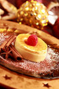 Creme brulee for Christmas Royalty Free Stock Images