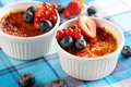 Creme brulee (cream brulee, burnt cream) Stock Image