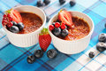 Creme brulee (cream brulee, burnt cream) Royalty Free Stock Photography