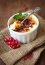 Creme brulee (cream brulee, burnt cream) Royalty Free Stock Image