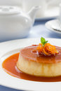 Creme caramel. Royalty Free Stock Photo