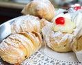 Creme pastry tasty with vanilla custard Royalty Free Stock Photo
