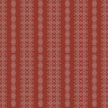Creme and Red Rough Damask Seamless Pattern Royalty Free Stock Photos