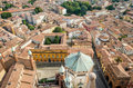 Cremona, Italy, panorama from the Torrazzo Royalty Free Stock Photo