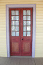 Creole door an antique on a plantation house Stock Photos
