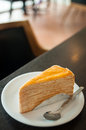 Crepe cake is sold in coffee shops Royalty Free Stock Photo