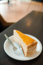 Crepe cake is sold in coffee shops Stock Photography