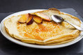 Crepes with apricot jam Royalty Free Stock Photo