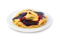 Crepes with confiture isolated on white background clipping path Royalty Free Stock Photography