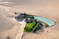 Crescent lake in dunhuang china Stock Images