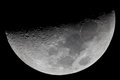 Crescent moon picture taken with newtonian telescope mm barlow x lensesn and dslr Royalty Free Stock Photos