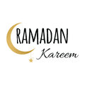 Crescent moon and star for Holy Month of Muslim Community, Ramadan Kareem design element