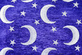 Crescent and stars on blue Stock Photography