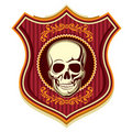 Crest with skull. Stock Photos