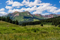 Crested butte colorado mountain landscape Royalty Free Stock Photo