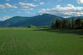 Creston bc farm canada a fertile field in the kootenay river valley on the crowsnest highway near Royalty Free Stock Photo