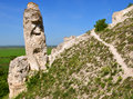 Cretaceous outcrops at nature reserve divnogorie voronezh region russia Royalty Free Stock Images