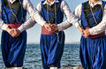 Cretan dancers Royalty Free Stock Images