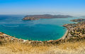 Cretan Landscape Plaka bay Royalty Free Stock Photo