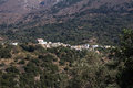 Cretan village in the mountains. Royalty Free Stock Photo