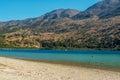 Crete, Greece: Kournas Lake, the only freshwater lake in Crete Royalty Free Stock Photo