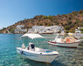 Crete greek village in loutro southern greece Royalty Free Stock Photography