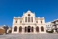CRETE,HERAKLION-JULY 25: The Agios Minas Cathedral on July 25 in Heraklion on the island of Crete, Greece. Royalty Free Stock Photo