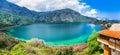 Crete island, Greece - beautiful lake Kournas near Rethymno. Royalty Free Stock Photo