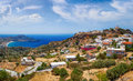 Crete island in summer panoramic view Royalty Free Stock Photos