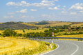 Crete senesi characteristic landscape in val d orcia siena tuscany italy the road to asciano Royalty Free Stock Photos