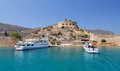 Crete Spinalonga Fortress Greece Royalty Free Stock Photos