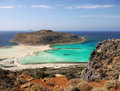 Crete travel attraction cruise balos beach lagoon view from mountains tourist cruises island greece Stock Photo