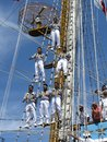 Crew in the Rigging Stock Photography