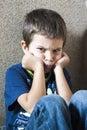 image photo : Angry child