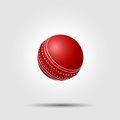 Cricket ball on white background with shadow Royalty Free Stock Photo