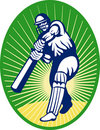 Cricket batsman batting Royalty Free Stock Image