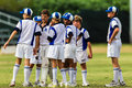 Cricket Junior Team Talk Royalty Free Stock Photo