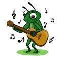 Cricket music guitar