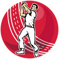 Cricket player bowler bowling ball Royalty Free Stock Images
