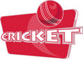 Cricket sports ball Stock Photo