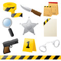Crime fighting icons police and Stock Images