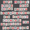 Crime and forensic science theme illustration anonymous letter Stock Photo