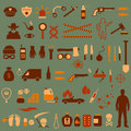 Crime icons vector police law criminal illustration Stock Photography