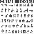 Crime icons Royalty Free Stock Photo