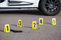 Crime scene after gunfight