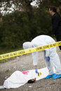 Crime scene investigation in the city Stock Images