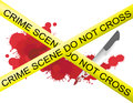 Crime scene of a knife muderer Stock Image