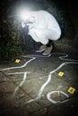 Crime scene photographer Royalty Free Stock Photo