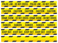 Crime Scene and Police Tapes Royalty Free Stock Photo